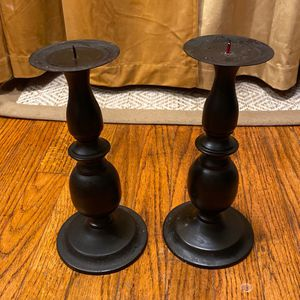 10 inches tall brown metal candle Holder for Sale in Milton, MA