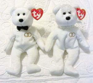 Ty Beanie Baby Mr and Mrs Bear Bride and Groom Wedding Teddy Set of 2 for Sale in San Francisco, CA