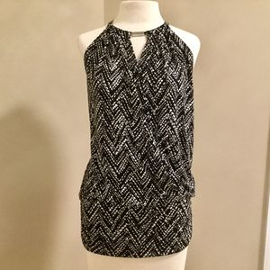White And Black Zig-Zag Halter Top WHBM for Sale in Chantilly, VA