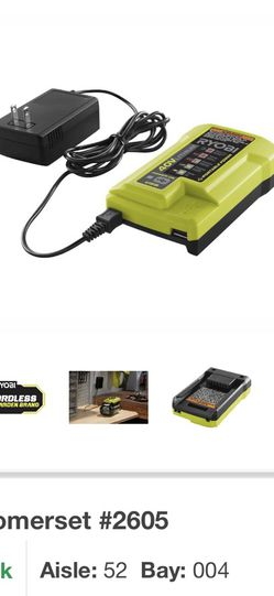RYOBI 40-Volt Lithium-Ion Charger with USB Port for Sale in Westport,  MA