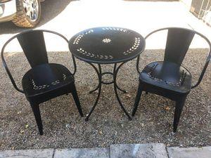 Iron Table & 2 Iron Chairs (Read Description) for Sale in Phoenix, AZ