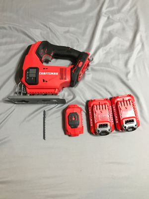 Craftsman jigsaw + 2 V20 rechargeable batteries + Battery charger for Sale in Amarillo, TX