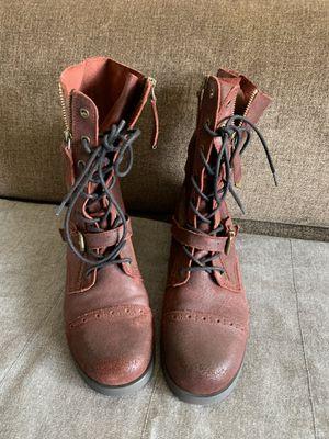 Maroon Aldo leather boots Sz 8 for Sale in Santa Monica, CA