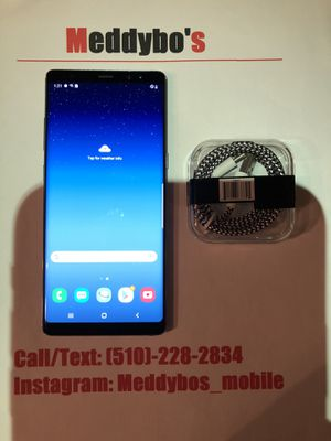 Samsung Galaxy note 8 (factory unlocked) Excellent Condition for Sale in Oakland, CA