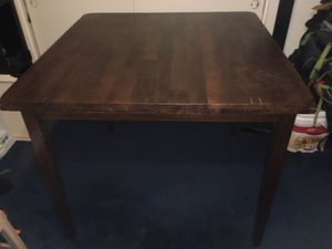 Dining table for 4 . Stools and table made of real wood ! In good condition. for Sale in Victorville, CA
