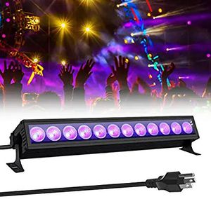 UV LED Black Light,GLIME Black Light Bar 36W with 12 Leds Neon Glow in The Dark Party Supplies for Black Light Posters Birthday for Sale in Altamonte Springs, FL