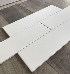 Tile backsplash 4x16 , Tota 25 pieces, 11 sq.feet White gloss for Sale in Auburn, WA