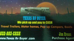 We buy Rvs motorhomes trailers for Sale in Houston, TX