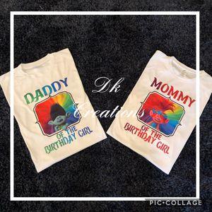 Trolls birthday shirts for Sale in Houston, TX