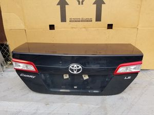 2012 to. 2014 Toyota Camry LE Trunk lid & Bumper Rear New Oem parts for Sale in Downey, CA