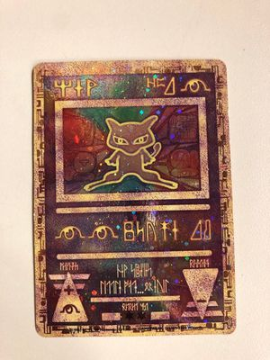 Collectible Pokemon Ancient Mew Mewtwo Promo Holographic Card for Sale in Springfield, VA