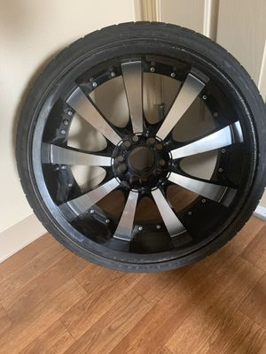 """4 20"""" Rims w/ tires for sell! $400 for Sale in Vancouver, WA"""