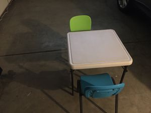 Children's table & 2 chairs lifetime brand for Sale in Menifee, CA