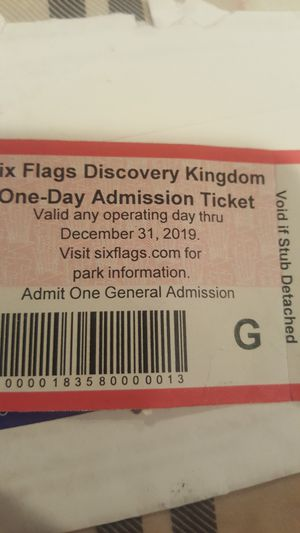 Six~Flags ticket $35,,, for Sale in Castro Valley, CA