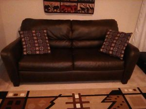 Faux Leather Couch, Great Condition, Must pick up. for Sale in Atlanta, GA