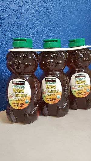Kirkland Signature Organic Raw Honey Bear, 24 onz, 3-count for Sale in Miami, FL