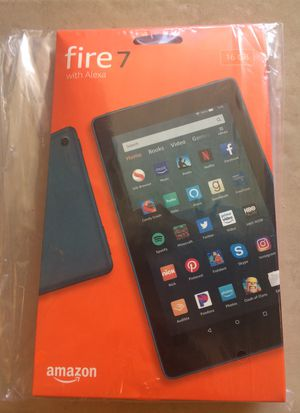 Amazon 16 gb Fire 7 Tablet- 9th Generation -Twilight Blue for Sale in Industry, CA