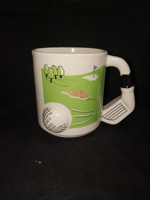 """Golfing coffee mug 4"""" tall for Sale in Zanesville, OH"""