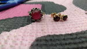 1 n half Ruby with diamonds 10 kg gold n matching earings for Sale in Austin, TX