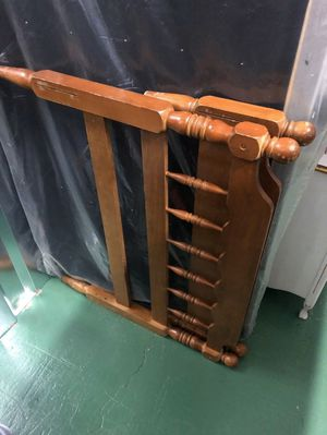 Twin Bed Frame (metal rails) & Matching Dresser for Sale in Greensboro, NC