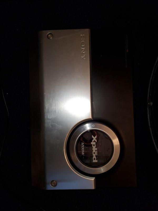 Subwoofer kicker + sony amplifier