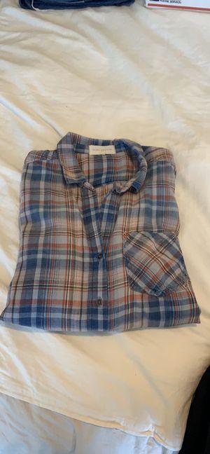 Soft plaid shirt with fringe for Sale in Phoenix, AZ