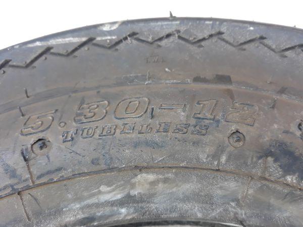 1 tire 530-12 Trailer tire 6 ply