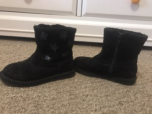 Black toddler girl boots for Sale in Raeford, NC