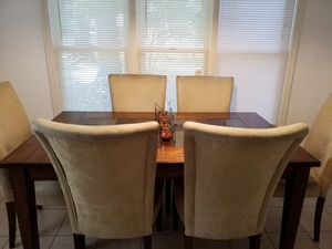 Stone-top Dining Table with 6 Chairs for Sale in Midlothian, VA