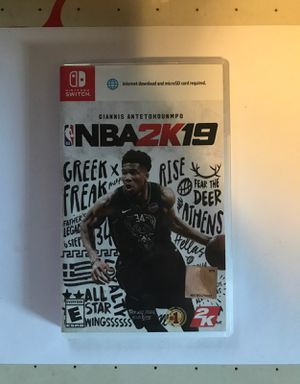 NBA 2k19 Nintendo switch for Sale in Los Angeles, CA