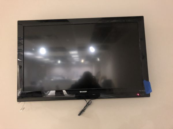 42 inch Sharp tv with wall mount