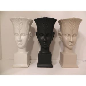 3 Colors With Large Leaves Head Face Lady Modern European Flower Vases 12 inch $40 Each for Sale in South Pasadena, CA