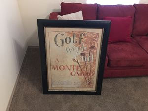 Golf Framed Picture. Very good condition for Sale in Columbia, MO
