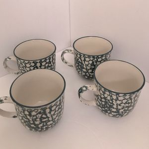 Set of 4 Folk Craft Coffee Cups by Tienshan for Sale in Bloomington, IN