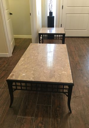 Granite Coffee Table and Side Table for Sale in Gilbert, AZ