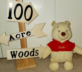 Winnie The Pooh Stuff Animal & Wood Sign for Sale in Vancouver,  WA