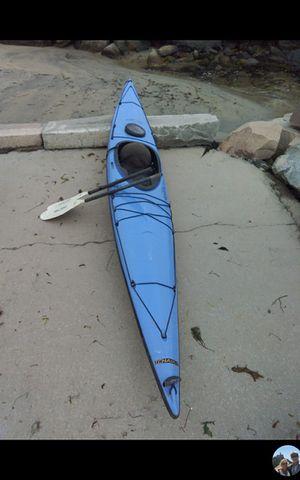 Fiberglass Kayak Wilderness Systems Tchaika Pro 14ft & Aquabound Paddle for Sale in Stonington, CT