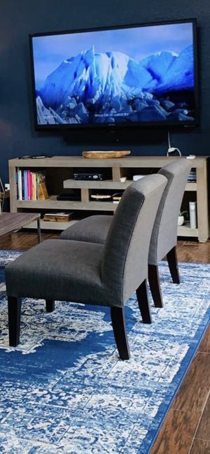 Set of 2 Charcoal gray slipper chairs for Sale in Port St. Lucie, FL