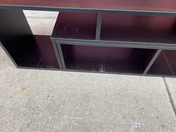Brown tv stand