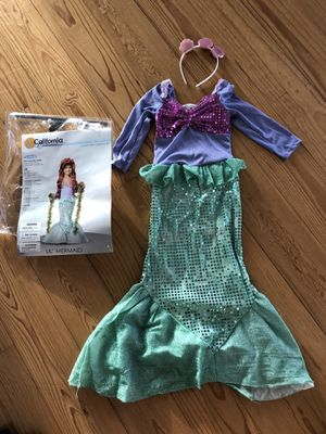 Little girls ariel costume size 2-4y for Sale in North Miami Beach, FL