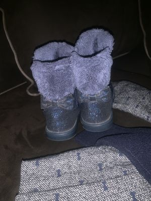 Winter boots and coat navy girl toddler cute for Sale in Fayetteville, NC