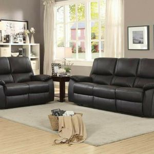 Brand New Brown Leather Reclining Sofa & Loveseat for Sale in Puyallup, WA