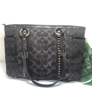 COACH Studded Lurex sig tote bag for Sale in Palm Springs, CA