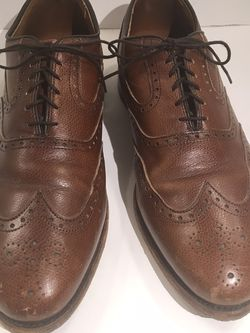 Allen Edmonds McClain Leather Men 10.5 Brogue Wingtip Shoes for Sale in Austell,  GA