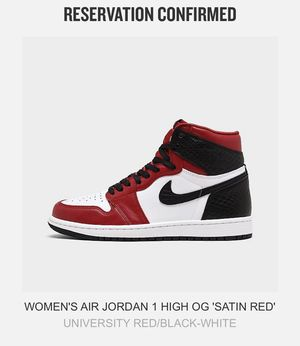 """Air Jordan 1 High OG """"Satin Red"""" for Sale in Houston, TX"""