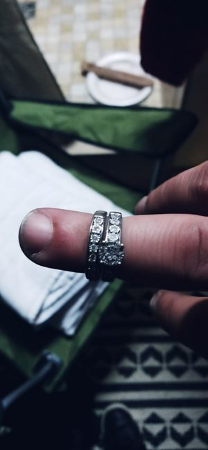 Beautiful sterling silver wedding set real diamond for Sale in Nashville, TN