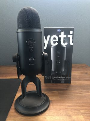 Blue Yeti Microphone (Blackout Edition) for Sale in Moreno Valley, CA