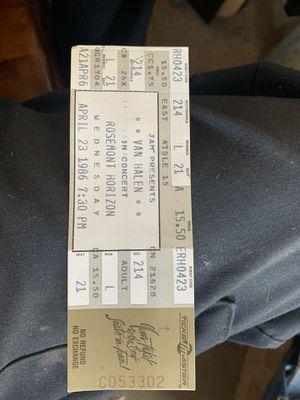 Old Van Halen concert ticket for Sale in Elk Grove Village, IL