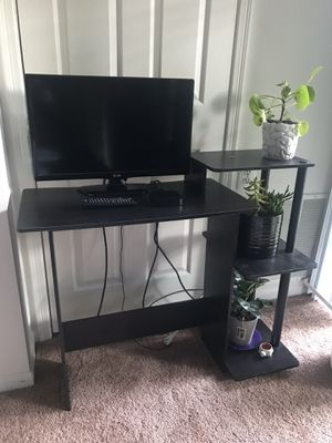 Black Desk with Shelves for Sale in Oakton, VA