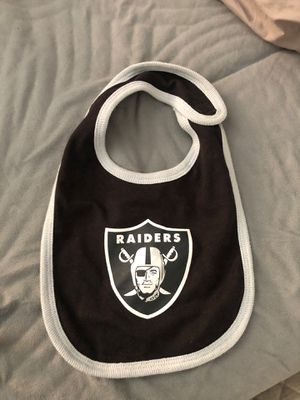 Las Vegas Raiders Baby Bib for Sale in Corona, CA
